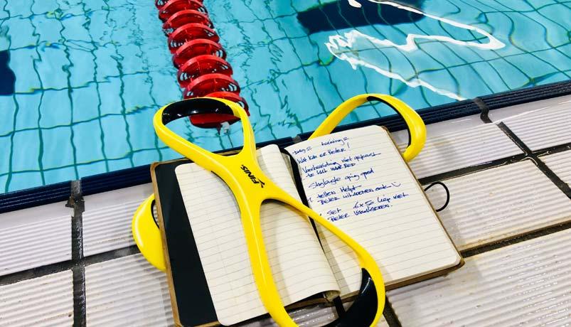 Apexswim zwemmerslogboek helpt zwemmers in hun mentale weerbaarheid.